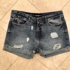 Cool Jean shorts with Rips by The Kooples